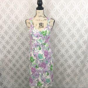 Ann Taylor LOFT Petite Pastel Floral Dress